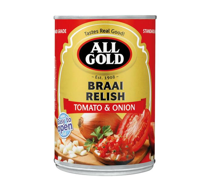 All Gold Braai Relish Tomato and Onion (1 x 410g)