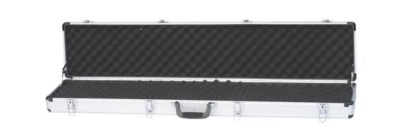 Single Rifle Case Aluminium 140x24.1x11.4cm Silver Dots Surface