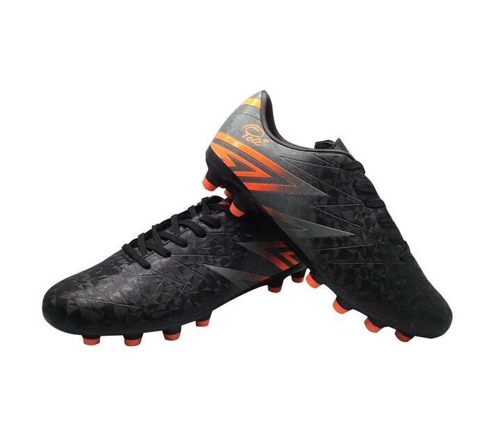 Pele Soccer Boots- Orange & Black
