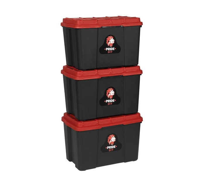 Pride 25 l 3 Piece Storage Box Set