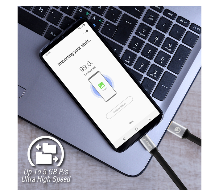 Volkano Speed Series USB Type-C to USB 3.0 Cable - 1m