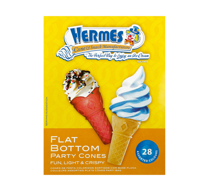 HERMES Flat Bottom Party Cones (24 x 28's)