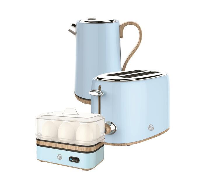 Swan Breakfast Pack - Kettle, Toaster and Egg Boiler