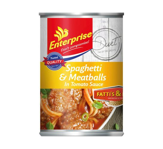 Enterprise Tinned Meals Spaghetti And Meatballs (1 x 410g)
