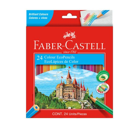 Faber Castell Eco Colour Pencils 24-Pack Assorted