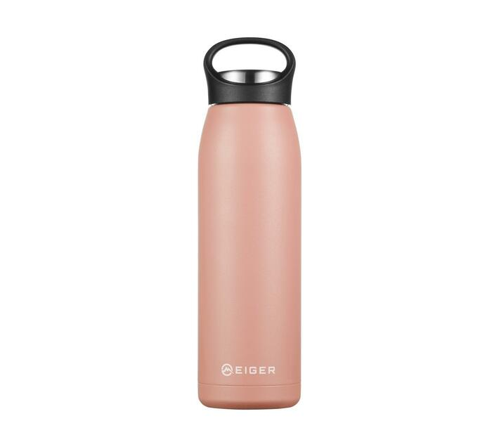 Eiger 700ml Double-Walled Stainless Steel Vacuum Flask - Pink