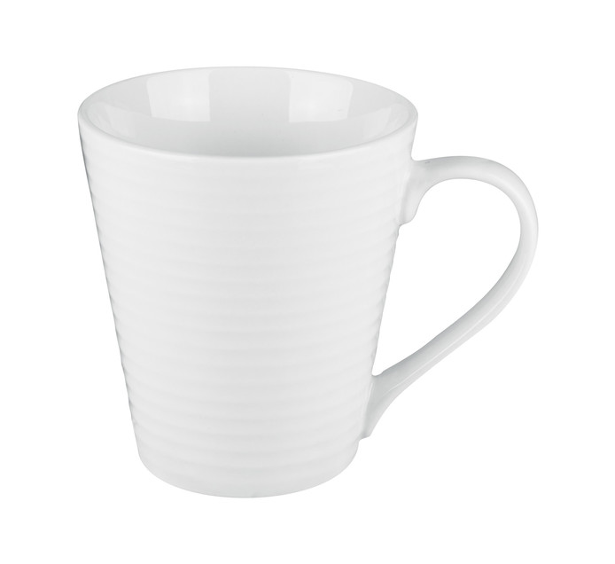 Basic White 325 ml Basic White Ribbed Coffee Mug