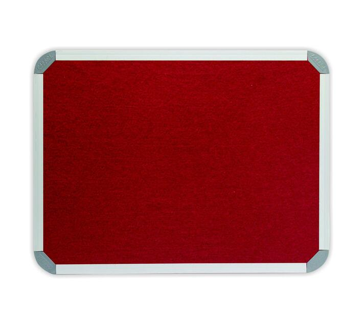 PARROT PRODUCTS Info Board (Aluminium Frame, 900*900mm, Burgandy)