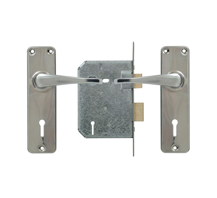 Yale 3 Lever Lockset Zinc Handle