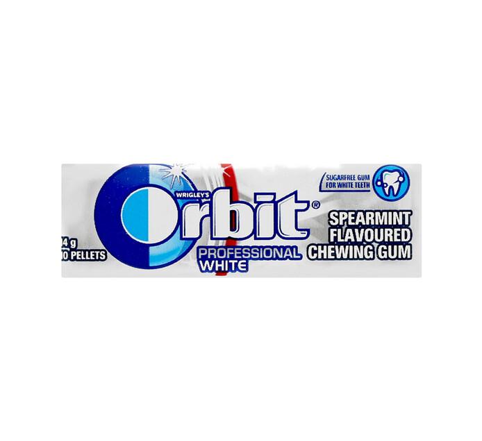ORBIT S/F GUM PELLET PK 10PC, WHITE