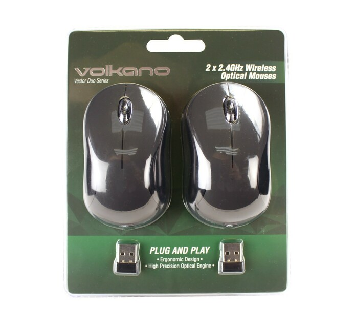 Volkano Wireless Mouse (2-Pack)