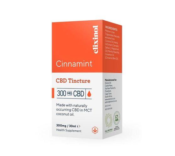 Elixinol Hemp Oil Drops 300mg CBD - Cinnamint Flavour