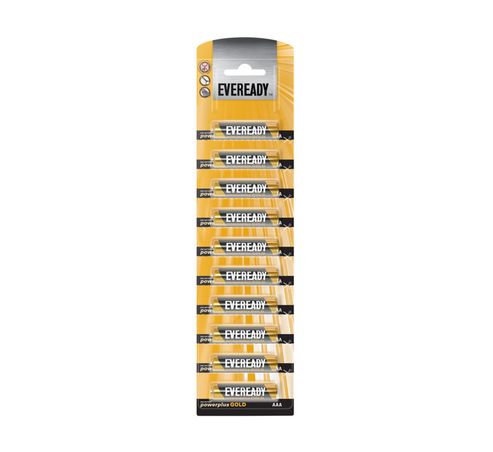 Eveready Battery Power + Gold AAA BP10 10-Pack