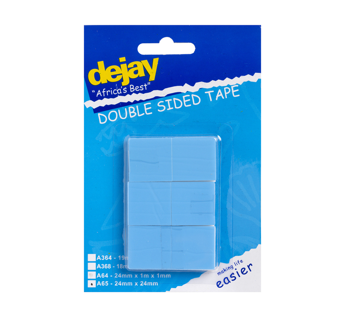 Dejay 12 Piece Double Sided Tape