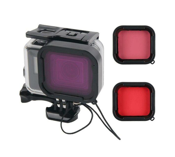 T4U 45m Dive Housing with Purple, Red & Pink Filters - Gopro Hero 7 Black