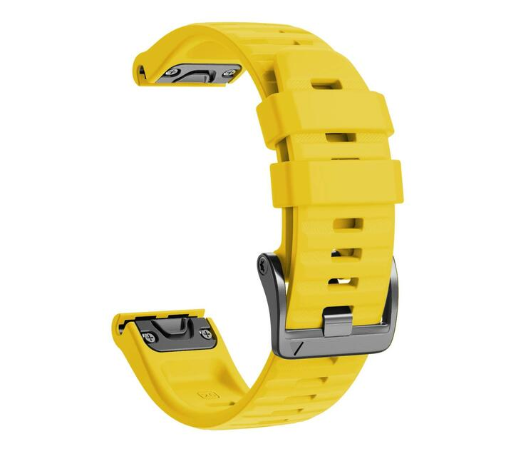 Replacement Silicone Band for Fenix 6X(26mm) - Yellow