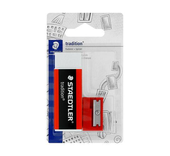 Staedtler Tradition Eraser and Single-Hole Sharpener Set