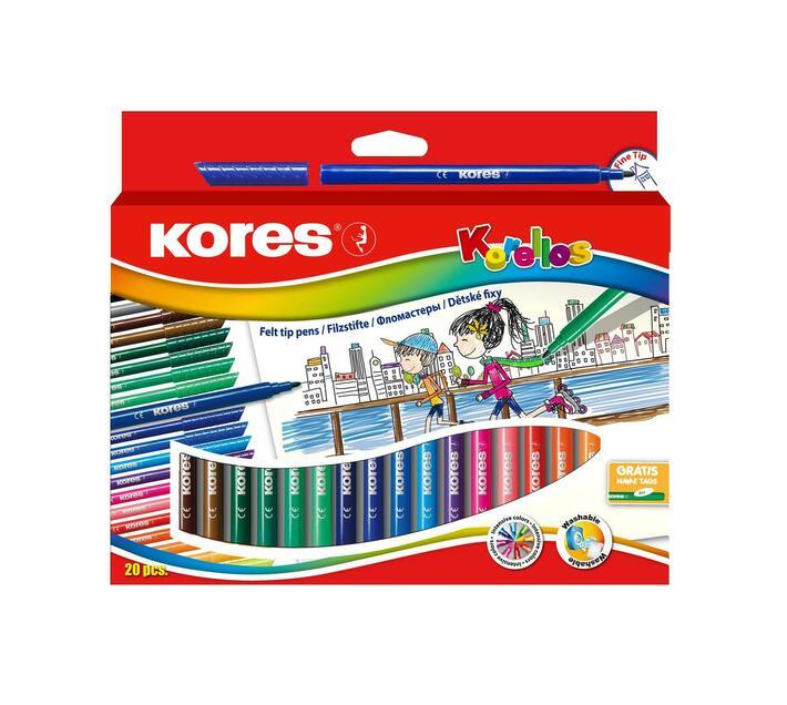 Kores felt tip pens 20`s