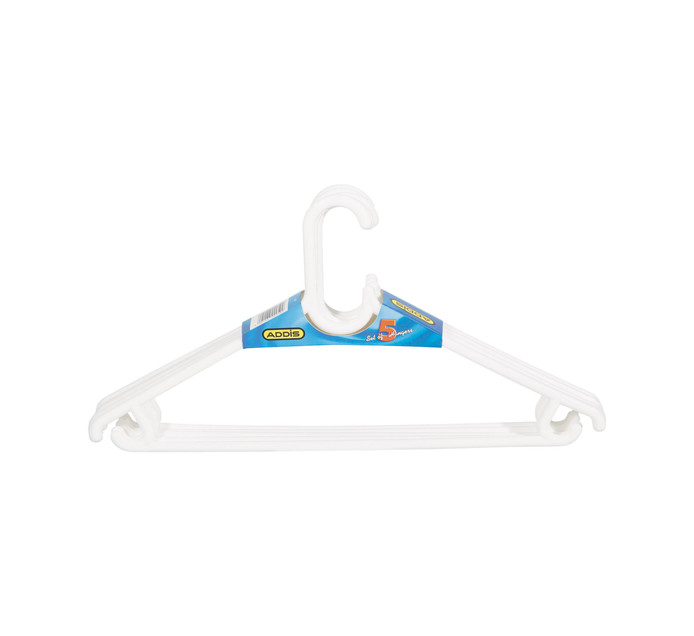 Addis 5 Pack Unisex Hangers White