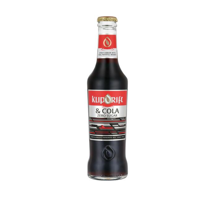 Klipdrift & Cola Zero Sugar (6 x 275ml)