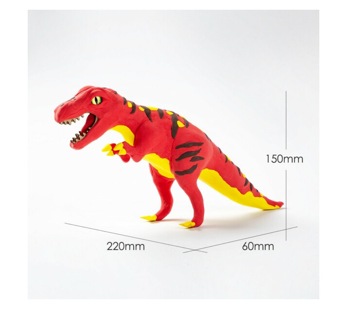 3D Wooden Puzzle with Clay - T Rex