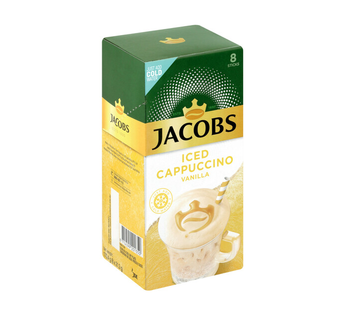 Jacobs Instant Iced Cappuccino Vanilla (8 x 21.3g)