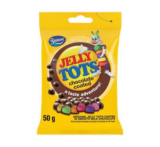 Jelly Tots Mini Prepacks Shapez Choc Coated (24 x 50g)