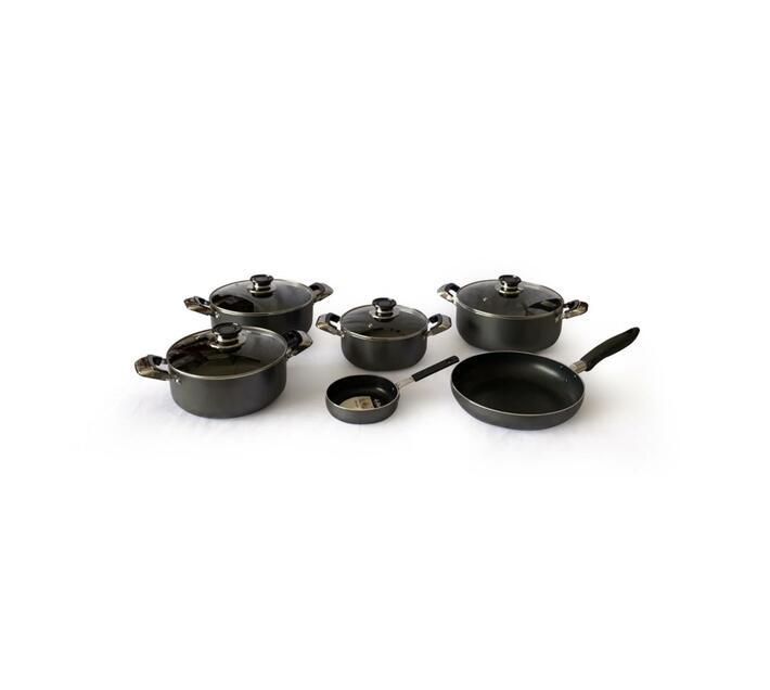 Non-Stick Casserole Pots and Fry Pans Combo 10 Piece Set