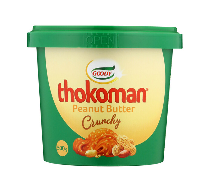 Thokoman Peanut Butter Crunchy (6 x 500g)
