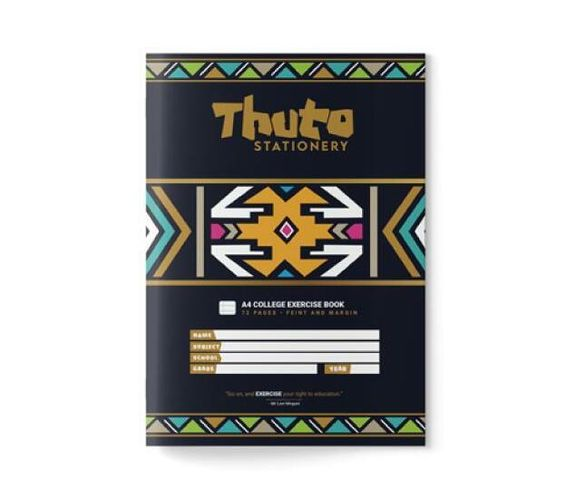 Thuto 72 Pages Feint & Margin Exercise Book - Ndebele Edition