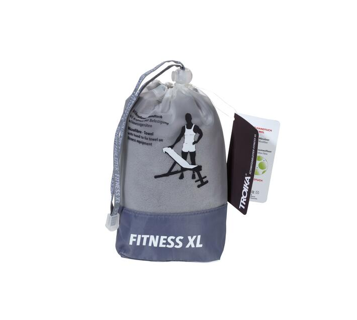 Troika Fitness Towel with Sewn-In Fold Schwitzableiter Fitnes XL Grey