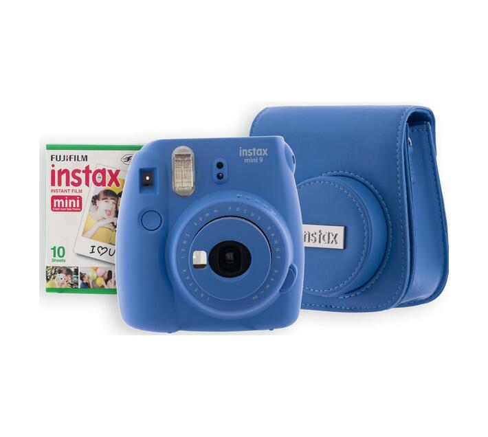 INSTAX Mini 9 Kit 1 Cobalt Blue (camera, bag, film)