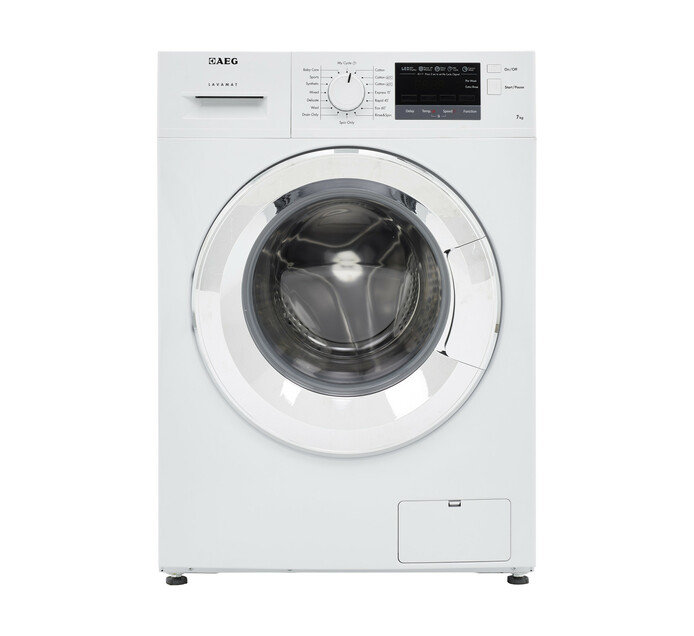 AEG 7KG FRONT LOAD WASHER WHITE