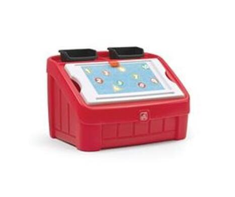 Step2 2-In-1 Toy Red Box And Art Lid