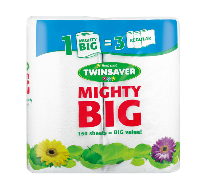 Twinsaver Mighty Big Roller Towel White (1 x 2's)