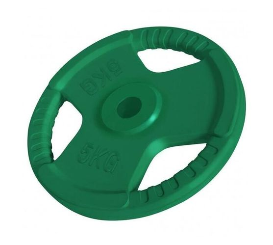 GORILLA SPORTS SA - 30/31 MM Rubber tri grip weight plate - 5KG