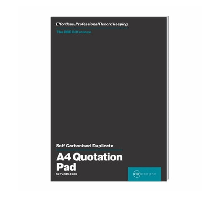 RBE: A4 Quotation Duplicate Pads (Pack of 2)