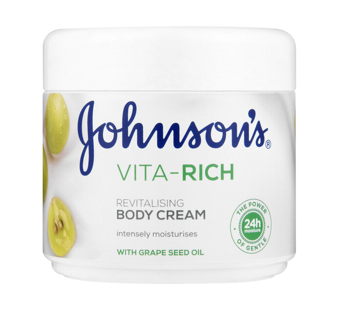 Johnsons Vita Rich Body Cream Grape Seed (1 x 350ml)