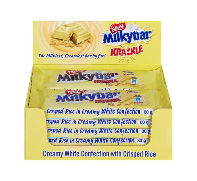 Nestle Choc Slabs Milky Bar Krackle (10 x 80g)