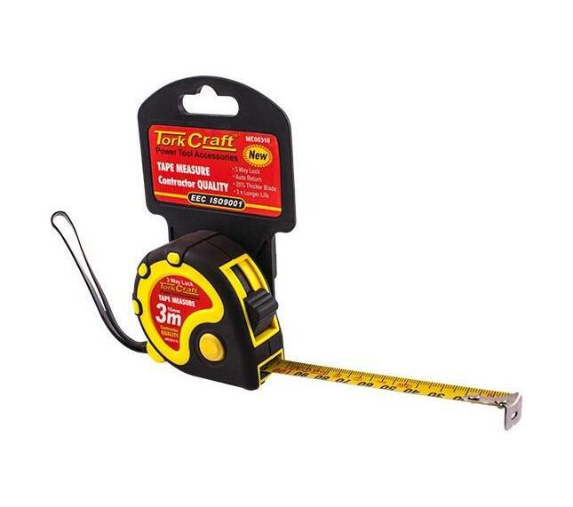 Measuring Tape Multi Lock 3m X 16mm Rubber Casing Matt Finish