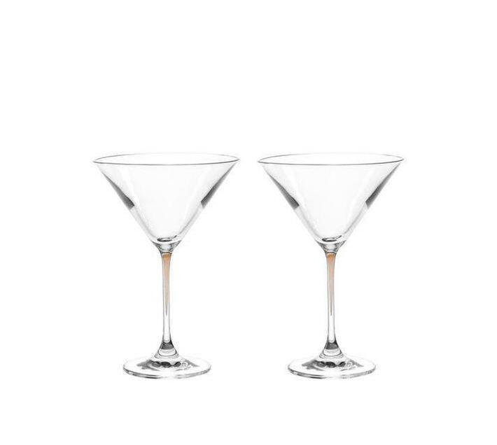 Leonardo Cocktail Glass with Chestnut Brown Stem LA Perla Set of 2