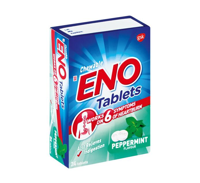 ENO Heartburn & Antacid Tablets Peppermint (6 x 24's)