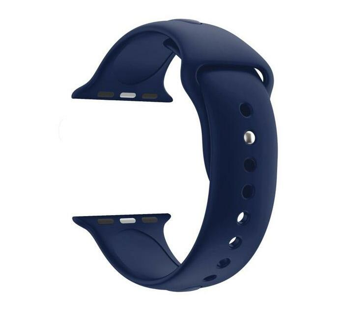 44mm Silicone Apple Watch Strap by Zonabel - Navy Blue