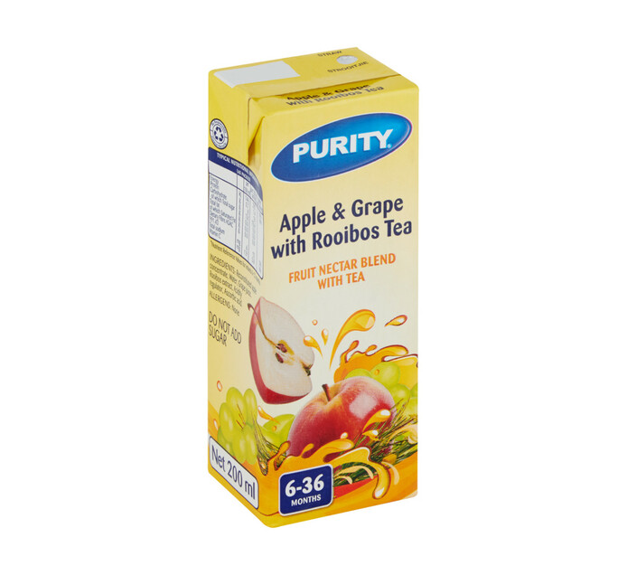 Purity Fruit Juice Apple&Grape (6 x 200ml)