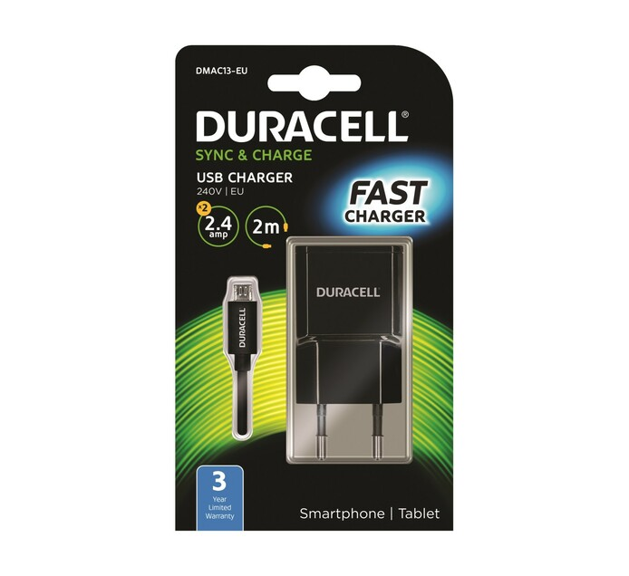 DURACELL 2.4 AMP MICRO WALL CHARGER