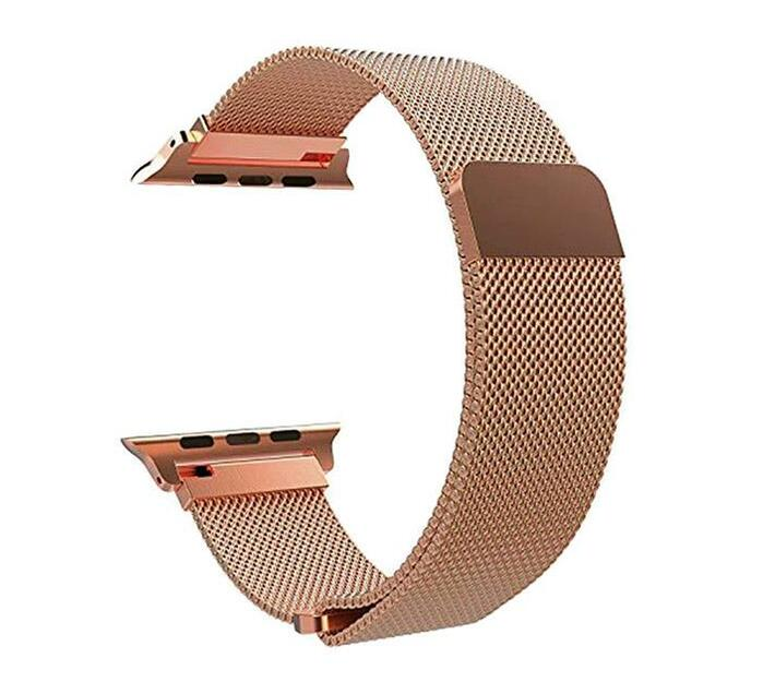 42mm Milanese Loop Apple Watch Strap by Zonabel - Rose Gold