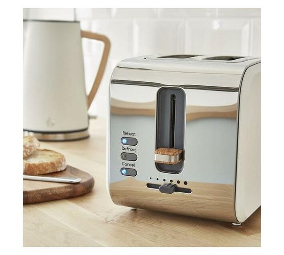Nordic White Kettle and 2 Slice Toaster Pack