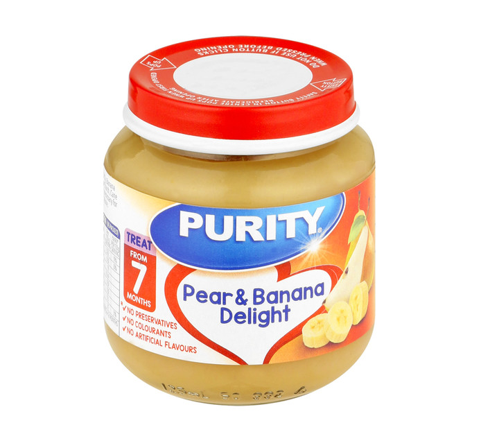 Purity 2nd Foods Pear and Banana Delight (6 x 125ml)
