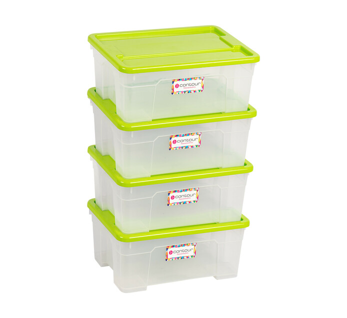 Buzz 4.5 l x 4 Contour Storage Box