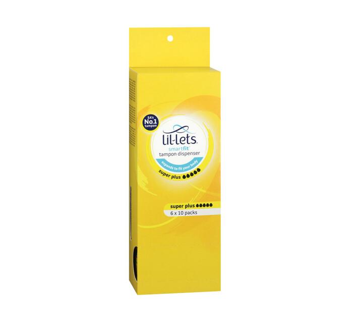 Lil-lets Tampons Dispenser Super Plus (6 x 10's)